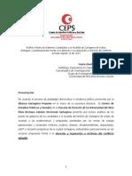 Análisis Planes de Gobierno Candidatos Alcadía Cartagena