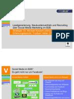 Leadgenerierung, Neukundenvertrieb und Recruiting über Social Media Marketing im B2B