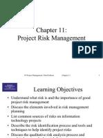 Chap 11 Risk