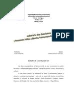Analisis de Las Ideas Emancipadoras y to Politico y Educativo