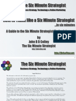 How to Be a Six Minute Strategist 31 Jan 2012