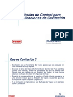 Valvulas de Control Para Aplicaciones de Cavitacion