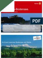 """St.Gallen Bodensee - """"Meetings in der Schweiz - erfrischend anders!"""""""