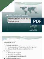 Manipulation of Financial Statements V0.1