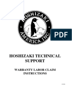 Hoshizaki Technical Support - Warranty Labor Claim Instructions (2)