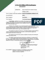 Dtc Cpni Certification Stmt Ye 2011.