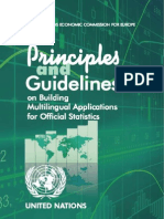 Principles and Guidelines on Building Multilingual Applications for Official Statistics