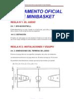 REGLAMENTO OFICIAL DE MINIBASKET 5º PRIMARIA
