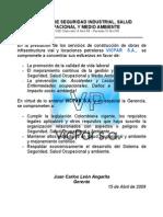 1 POLITICA DE HSE