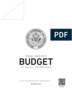 Obama Budget Proposal, Fiscal Year 2013