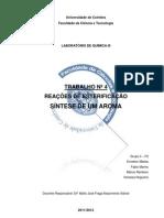 Relatório 4-Reações de Esterificação_Síntese de um Aroma_final