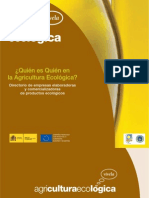 DIRECTORIO DE EMPRESAS ECOLÓGICAS DE ALIMENTACIÓN con datos de contacto (Ministerio de Agricultura. 2012. 97 págs. PDF)