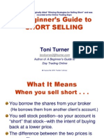 Beginners Guide to Short Selling With Toni Turner