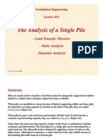Lecture15 Analysis of Single Piles