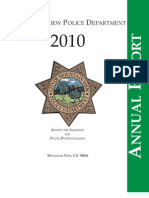 Mountain View (CA) Police Annual Report (2010)