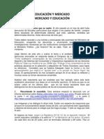 EDUCACIÓN Y MERCADO