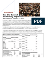 One City Prelim Report