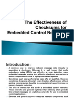 The Effectiveness of Checksums