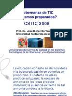 Gobernanza de TIC, ¿estamos preparados_. 2009.