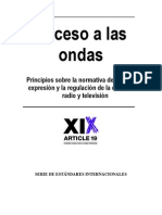 Acceso a las Ondas- Principios sobre la normativa de libertad de expresión y regulación de la difusión de radio y TV