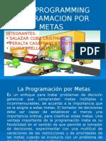 Presentación Goal Programming