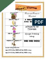 Summer Camp Themes 2012