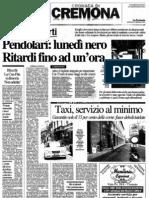 """Pendolari - lunedì nero. Ritardi fino ad un'ora (""""La Provincia"""", 24-01-2012, p. 15)"""