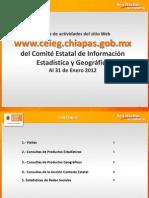 Reporte de estadísticas del Sitio Web del CEIEG Enero 2012