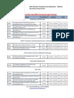 New Horizons - Bahrain Tech Public Courses Schedule DEC 2011 - APR 2012