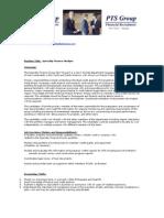 Bilingual Portuguese  Finance Analyst Position Description