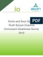 Korrio Concussion Survey Report 2012