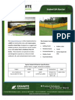 Staked Silt Barrier