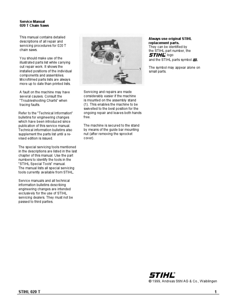 Stihl 020 Chainsaw Parts Diagram Wiring Libraries 020t Workshop Manual Piston Ignition Systemstihl 18