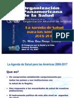 Agenda Para La Salud de Las Americas OPS