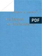 Adorno::Jargon of Authenticity