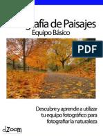 Fotografía de Paisajes  (Equipo básico)