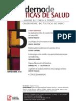 Cuaderno de Políticas de Salud, nº 05, septiembre 2010
