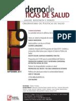 Cuaderno de Políticas de Salud, nº 09, septiembre 2011