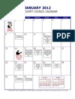 2012 Indianapolis City-County Council Calendar