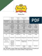 Weekly Schedule 2-13-12