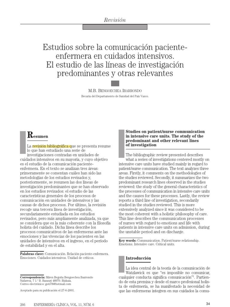 Comunicacion Enfermera