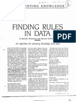 Finding Rules in Data