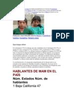 Los Mames Son Una Etnia Maya Que Habita Principalmente en El Noreste de Guatemala