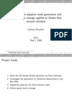 [Presentation] Stokes flow finite element model