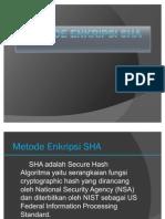Metode Enkripsi SHA