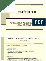 CEG - AULA 02, 03 - PERÍCIA LEGISLAÇÃO - LOCAL DE CRIME