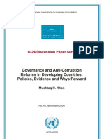 Governance and Anticorruftion Reforms in Developing Countries