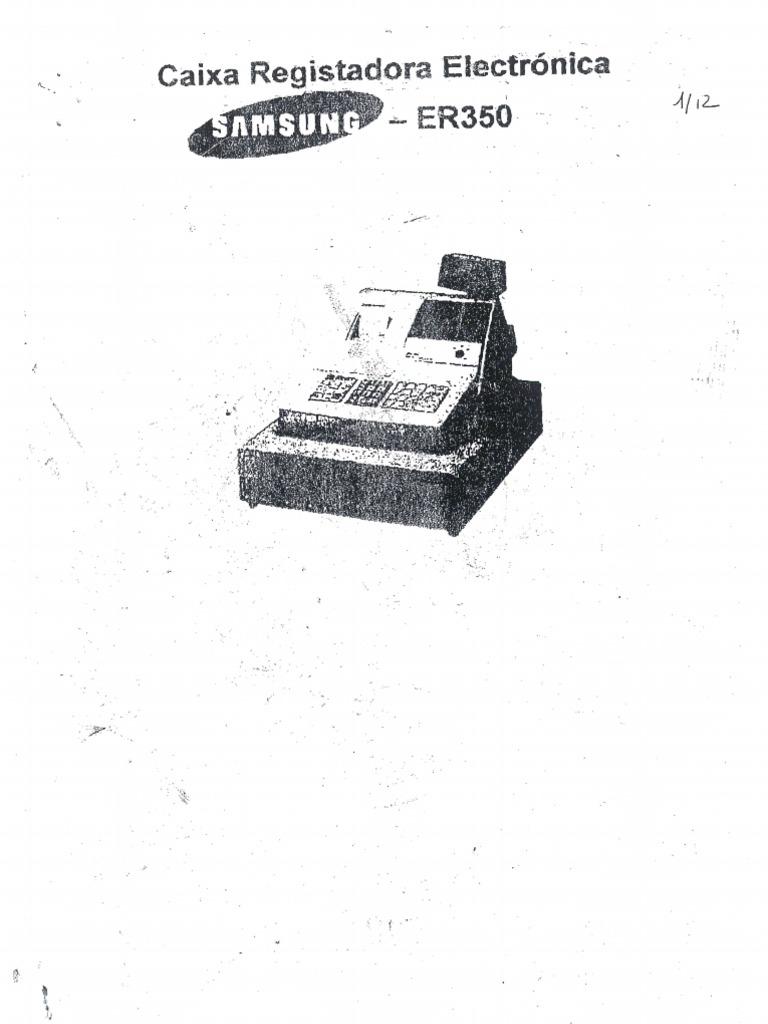 Manual Reduzido Da Caixa a Samsung ER 350