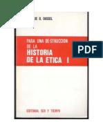 Para una De-strucción de la historia de la Ética I