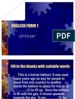 English Form 1 Lets Float